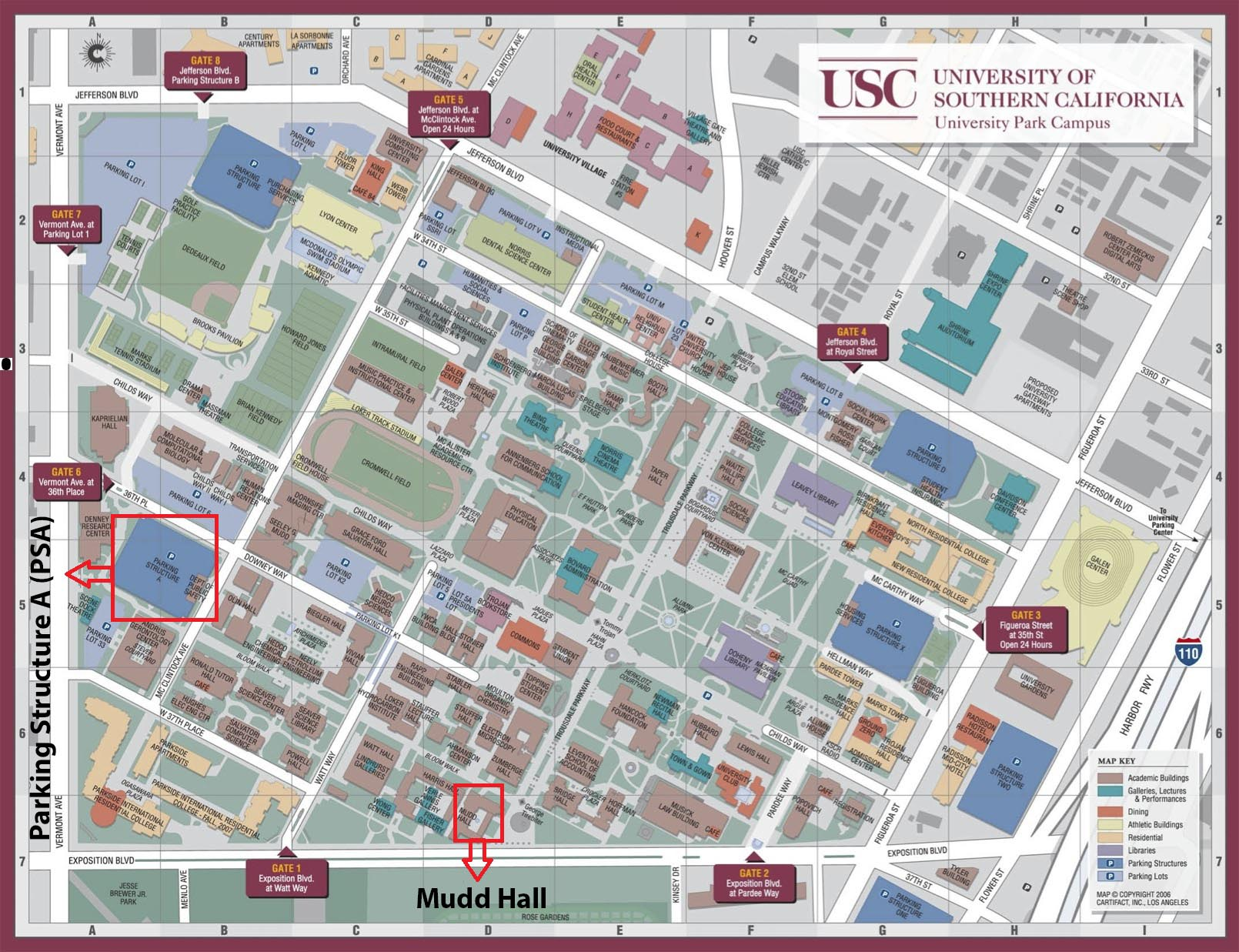 Map Of Usc Campus Southern California Geobiology Symposium Map Of Usc Campus